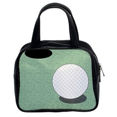 Golf Image Ball Hole Black Green Classic Handbags (2 Sides) by Alisyart