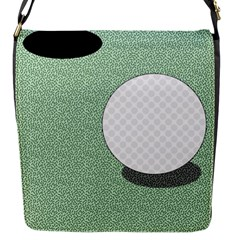 Golf Image Ball Hole Black Green Flap Messenger Bag (s) by Alisyart
