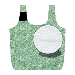 Golf Image Ball Hole Black Green Full Print Recycle Bags (l)  by Alisyart