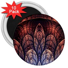 Abstract Fractal 3  Magnets (10 Pack)  by Simbadda