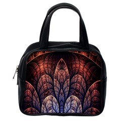 Abstract Fractal Classic Handbags (one Side) by Simbadda