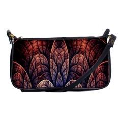 Abstract Fractal Shoulder Clutch Bags by Simbadda
