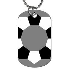 Pentagons Decagram Plain Black Gray White Triangle Dog Tag (two Sides) by Alisyart