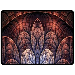 Abstract Fractal Double Sided Fleece Blanket (large)  by Simbadda