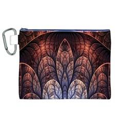 Abstract Fractal Canvas Cosmetic Bag (xl) by Simbadda