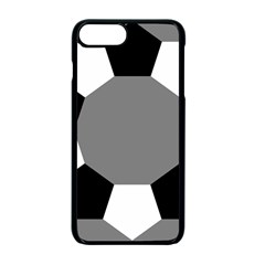Pentagons Decagram Plain Black Gray White Triangle Apple Iphone 7 Plus Seamless Case (black) by Alisyart