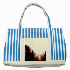 Abstract Lines Striped Blue Tote Bag