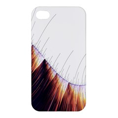 Abstract Lines Apple Iphone 4/4s Premium Hardshell Case by Simbadda