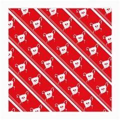 Panda Bear Face Line Red White Medium Glasses Cloth by Alisyart