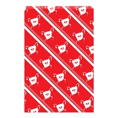 Panda Bear Face Line Red White Shower Curtain 48  X 72  (small)  by Alisyart