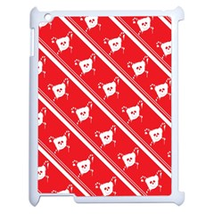 Panda Bear Face Line Red White Apple Ipad 2 Case (white) by Alisyart