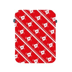 Panda Bear Face Line Red White Apple Ipad 2/3/4 Protective Soft Cases by Alisyart
