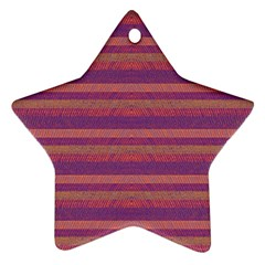 Lines Star Ornament (two Sides) by Valentinaart