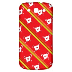 Panda Bear Face Line Red Yellow Samsung Galaxy S3 S Iii Classic Hardshell Back Case by Alisyart