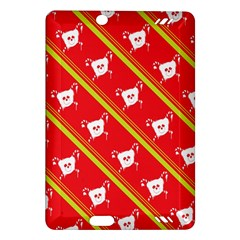 Panda Bear Face Line Red Yellow Amazon Kindle Fire Hd (2013) Hardshell Case by Alisyart