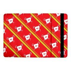 Panda Bear Face Line Red Yellow Samsung Galaxy Tab Pro 10 1  Flip Case by Alisyart