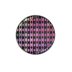 Old Version Plaid Triangle Chevron Wave Line Cplor  Purple Black Pink Hat Clip Ball Marker (10 Pack) by Alisyart