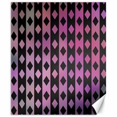Old Version Plaid Triangle Chevron Wave Line Cplor  Purple Black Pink Canvas 8  X 10  by Alisyart