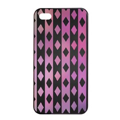 Old Version Plaid Triangle Chevron Wave Line Cplor  Purple Black Pink Apple Iphone 4/4s Seamless Case (black) by Alisyart