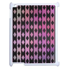 Old Version Plaid Triangle Chevron Wave Line Cplor  Purple Black Pink Apple Ipad 2 Case (white) by Alisyart