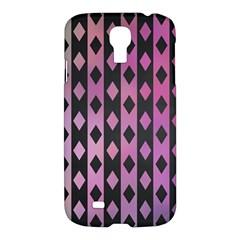 Old Version Plaid Triangle Chevron Wave Line Cplor  Purple Black Pink Samsung Galaxy S4 I9500/i9505 Hardshell Case by Alisyart