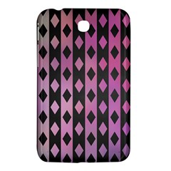 Old Version Plaid Triangle Chevron Wave Line Cplor  Purple Black Pink Samsung Galaxy Tab 3 (7 ) P3200 Hardshell Case  by Alisyart