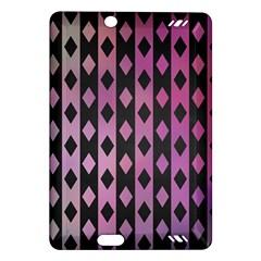 Old Version Plaid Triangle Chevron Wave Line Cplor  Purple Black Pink Amazon Kindle Fire Hd (2013) Hardshell Case by Alisyart