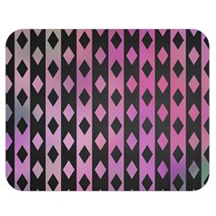 Old Version Plaid Triangle Chevron Wave Line Cplor  Purple Black Pink Double Sided Flano Blanket (medium)  by Alisyart