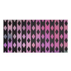 Old Version Plaid Triangle Chevron Wave Line Cplor  Purple Black Pink Satin Shawl by Alisyart