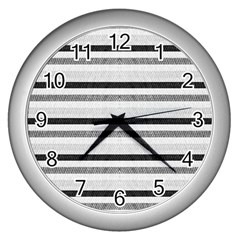 Lines Wall Clocks (silver)  by Valentinaart