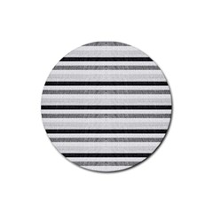 Lines Rubber Round Coaster (4 Pack)  by Valentinaart