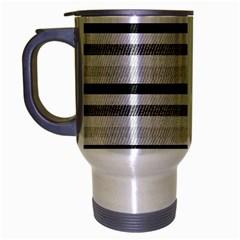 Lines Travel Mug (Silver Gray) by Valentinaart