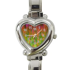 Abstract Trippy Bright Melting Heart Italian Charm Watch by Simbadda