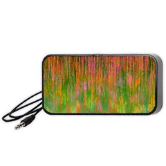 Abstract Trippy Bright Melting Portable Speaker (black) by Simbadda