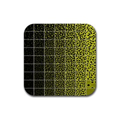 Pixel Gradient Pattern Rubber Coaster (square)  by Simbadda