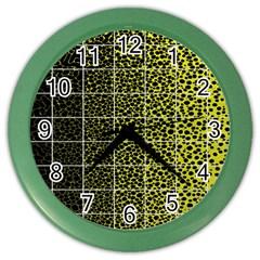 Pixel Gradient Pattern Color Wall Clocks by Simbadda