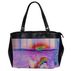 Glitch Art Abstract Office Handbags (2 Sides)  by Simbadda