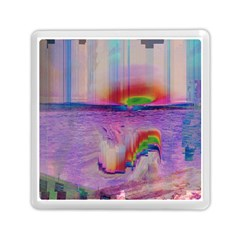 Glitch Art Abstract Memory Card Reader (square)  by Simbadda