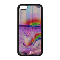 Glitch Art Abstract Apple Iphone 5c Seamless Case (black) by Simbadda