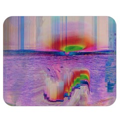 Glitch Art Abstract Double Sided Flano Blanket (medium)  by Simbadda