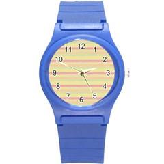 Lines Round Plastic Sport Watch (s) by Valentinaart