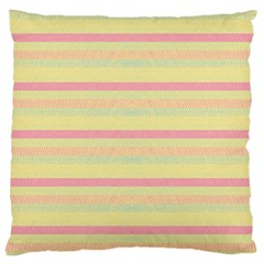 Lines Large Cushion Case (one Side) by Valentinaart