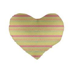Lines Standard 16  Premium Flano Heart Shape Cushions by Valentinaart