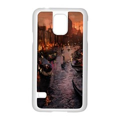 River Venice Gondolas Italy Artwork Painting Samsung Galaxy S5 Case (white) by Simbadda