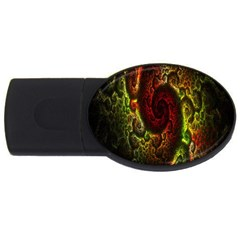 Fractal Digital Art Usb Flash Drive Oval (4 Gb) by Simbadda