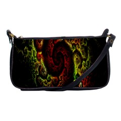 Fractal Digital Art Shoulder Clutch Bags by Simbadda