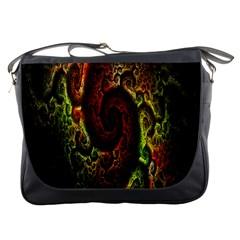 Fractal Digital Art Messenger Bags by Simbadda