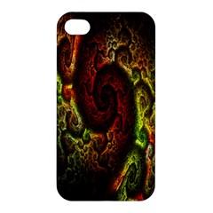 Fractal Digital Art Apple Iphone 4/4s Premium Hardshell Case by Simbadda