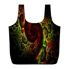 Fractal Digital Art Full Print Recycle Bags (l)  by Simbadda
