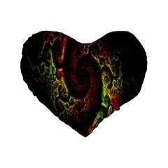 Fractal Digital Art Standard 16  Premium Flano Heart Shape Cushions by Simbadda